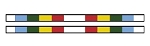 2 FEIPS4 - Horse Jumping Competition Poles / Rails striped (2 Units)