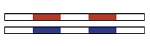 2 FEIPS1 - Horse Jumping Competition Poles / Rails striped (2 Units)