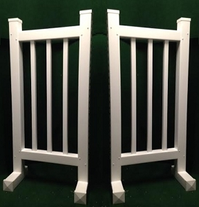 DS01 - 1 Pair of Wing Standards PVC horse jumps