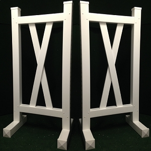 DS07 - 1 Pair of Wing Standards PVC horse jumps