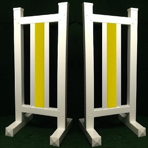 DS10 - 1 Pair of Wing Standards PVC horse jumps
