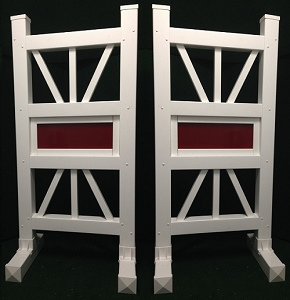 SP17 - 1 Pair of Wing Standards PVC horse jumps