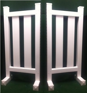 DS20 - 1 Pair of Wing Standards PVC horse jumps