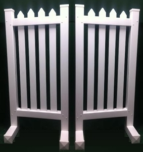 DS35 - 1 Pair of Wing Standards PVC horse jumps