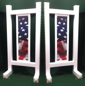 DS40 - 1 Pair of Wing Standards PVC horse jumps