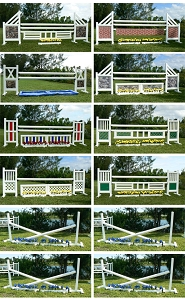 PK Advance Jumper - PVC Horse Jumps Course Package (12 jumps)