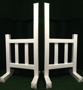 JR01 - 1 Pair of Wing Standards PVC horse jumps