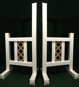 JR05 - 1 Pair of Wing Standards PVC horse jumps