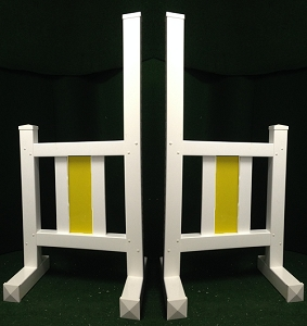 JR06 - 1 Pair of Wing Standards PVC horse jumps