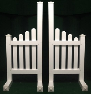 JR10 - 1 Pair of Wing Standards PVC horse jumps