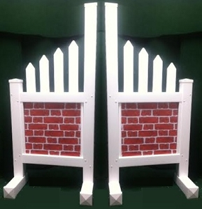 JR12 - 1 Pair of Wing Standards PVC horse jumps