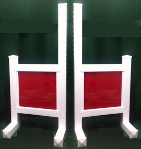 JR20 - 1 Pair of Wing Standards PVC horse jumps