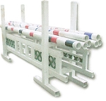 PGR - PVC Horse jumping poles storage rack