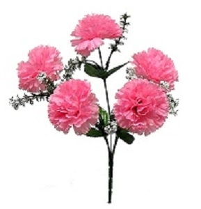 FL03 - Horse Jumps Pink Silk Flowers (8 bushes)