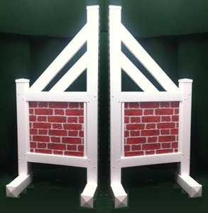 SO03 - 1 Pair of Wing Standards PVC horse jumps