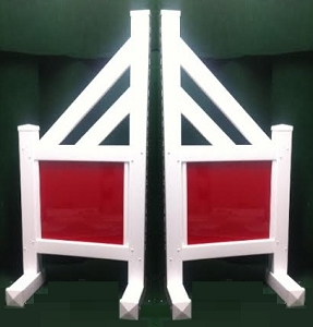 SO04 - 1 Pair of Wing Standards PVC horse jumps