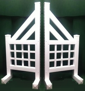 SO05 - 1 Pair of Wing Standards PVC horse jumps