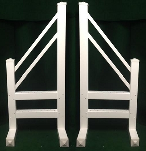 SO10 - 1 Pair of Wing Standards PVC horse jumps