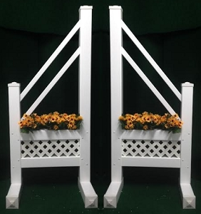 SO20 - 1 Pair of Wing Standards PVC horse jumps
