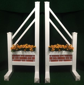 SO40 - 1 Pair of Wing Standards PVC horse jumps
