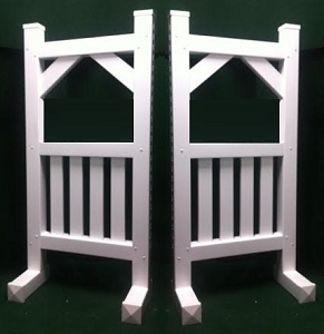 SP30 - 1 Pair of Wing Standards PVC horse jumps