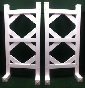SP34 - 1 Pair of Wing Standards PVC horse jumps