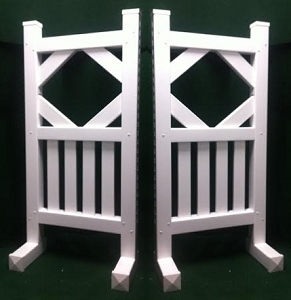 SP35 - 1 Pair of Wing Standards PVC horse jumps