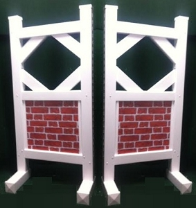 SP36 - 1 Pair of Wing Standards PVC horse jumps
