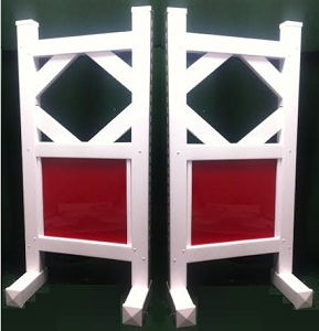 SP37- 1 Pair of Wing Standards PVC horse jumps