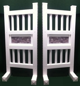 SP44 - 1 Pair of Wing Standards PVC horse jumps