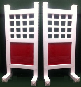 SP61 - 1 Pair of Wing Standards PVC horse jumps
