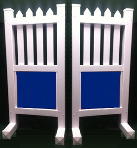 SP70 - 1 Pair of Wing Standards PVC horse jumps