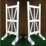 SP90 - 1 Pair of Wing Standards PVC horse jumps