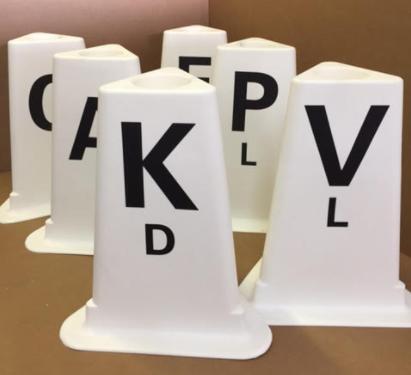 dal12 dressage arena letters set of 12