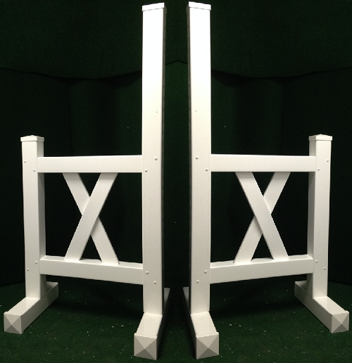 JR03 - 1 Pair of Wing Standards PVC horse jumps