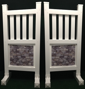 SP50 - 1 Pair of Wing Standards PVC horse jumps